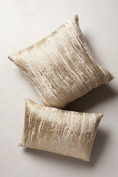 Plaited Metallics Pillow #anthropologie