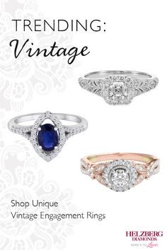 Do you love antique-inspired designs with delicate detailing? View breathtaking vintage engagement rings from Helzberg Diamonds.