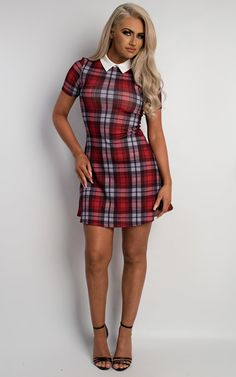 Rheya Tartan Shift Dress