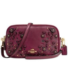 COACH Willow Floral Crossbody Clutch in Pebble Leather | macys.com