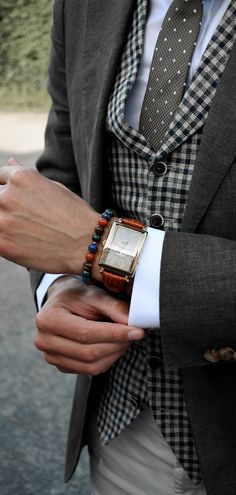 Bracelet for men | Malachite | Lapis lazuli | Red Jasper | Tiger's Eye | Gold | Mens Fashion | Suit | Tie | Watch |