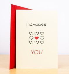 Happy with you since card personalised card love card anniversary i choose you card greeting cards love quote cute cards love hearts heart card romantic cards love card cards uk love you card m4hsunfo Gallery