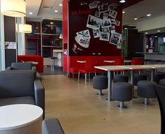 Cafeterías y restaurantes - Scanform Y Food, Food Court, Living Spaces, Conference Room, Table, Furniture, Home Decor, Restaurants, Blue Prints