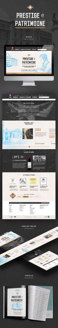 Courrier Vinicole - Prestige et patrimoine on Behance