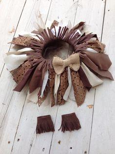 Shabby tutu fabric tutu Indian costume by LittleBirdBands on Etsy