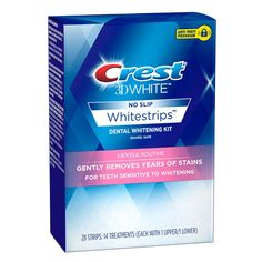 Natural Teeth Whitening Remedies Crest White Whitestrips Gentle Routine Teeth Whitening Kit - The best and most effective bleach pens and white strips for sensitive teeth and gums, including products from Tarte, Crest, and Oral Essentials. Best Teeth Whitening Kit, Teeth Whitening Remedies, Natural Teeth Whitening, Crest Whitening, Routine, Blend A Med, Anti Aging, Teeth Implants, Dental Implants