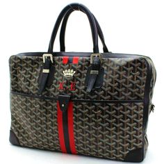 Auth-100-GOYARD-Leather-Diplomat-Ambassade-Print-Briefcase-K-E-Stamp-040924 #fashionbag