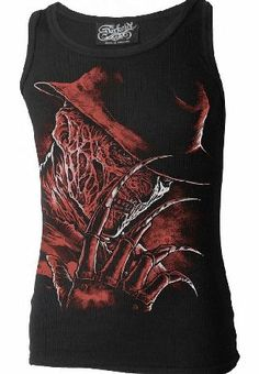 Darkside Clothing Freddy Beater Vest The Freddy Beater Vest is a cool unisex tank top by Darkside Clothing, featuring the insane serial killer Freddy Krueger fron Nightmare On Elm Street. The back print has a line of its famous song, and http://www.comparestoreprices.co.uk/fashion-clothing/darkside-clothing-freddy-beater-vest.asp