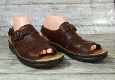 c45de3252302 Born Slingback Buckle Sandals Womens Size 8 M Brown Leather Shoes  Born   Slingbacks