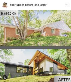 Home Remodel Old Houses Wow! Believe it our not this is the same house by Via Home Builders Association of Des Moines Modern Exterior, Interior Exterior, Exterior Design, Craftsman Exterior, Cottage Exterior, Interior Plants, Home Exterior Makeover, Exterior Remodel, Home Renovation