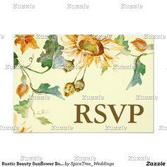 Rustic Beauty Sunflower Botanical RSVP