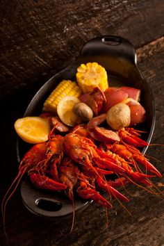 If we wanted to step away from the traditional family style way to present crawfish at the crawfish boil, this would be a more upscale way to do it.