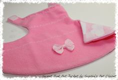 Sweet Pink Pet Jacket  XS S...Jacket for Pets by SophiesPetCloset