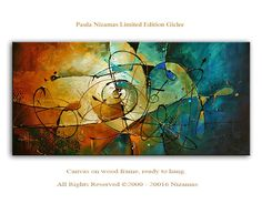 Abstract limited edition Art on canvas Home Interior di Artcoast