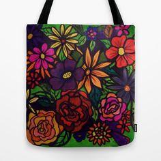 FLOWER POWER II Tote Bag by Rokin Art by RokinRonda - $22.00
