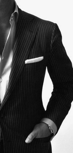 Pin striped suit