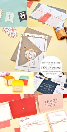 Smitten on Paper Giveaway. Enter at EAD for a chance to win a $300 gift certificate to Smitten on Paper!