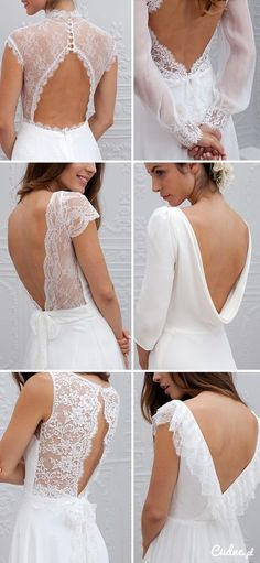 Gorgeous backs for wedding dresses. #weddingdress