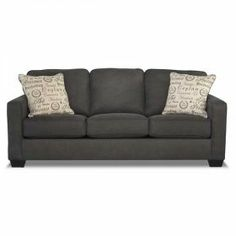 Aleyna Charcoal Sofa. This is the one, add the loveseat. Complete.