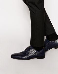 ALDO Wilama Leather Ostrich Derby Shoes