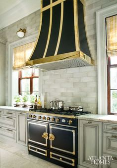 kitchen with la cornue stove #design #interiordesign