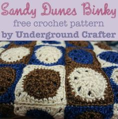 Sandy Dunes Binky, free crochet pattern by Underground Crafter | This beginner-friendly motif blanket is perfect for donation to the Binky Patrol or as a stashbuster.