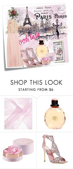 """Paris"" by mexarchopoulou ❤ liked on Polyvore featuring Post-It, Yves Saint Laurent, Sergio Rossi, Giambattista Valli and Chanel"
