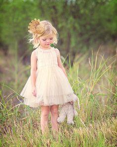 Sienna Vintage Lace Dress (Ivory)