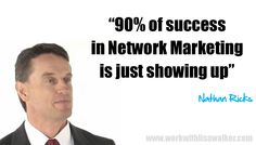 Entrepreneur 'Nathan Ricks' top earner with Nu Skin shares his top 2 success principals in Network Marketing..  1) Stay Focused 2) Be Consistent #nathanricks