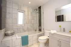 1 Rushbrooke Ave. #Toronto Leslieville | Luxurious Marble Bathroom | Heather Homes