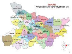 Bihar Lok Sabha 2014 Election Constituency Map