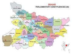 Bihar Lok Sabha 2014 Election Consuency Map