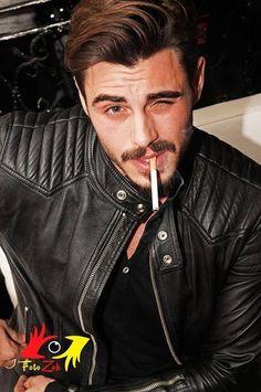 "smokingcelebs:  ""Francesco Monte, Italian actor, dj & model (Official website)  """