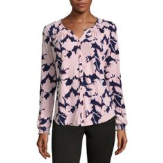 https://www.jcpenney.com/p/liz-claiborne-long-sleeve-floral-button-front-shirt/ppr5007279109?pTmplType=regular&deptId=dept20000013&urlState=/g/liz-claiborne-women/N-bwo3xZ68Zb7&page=2&badge=new&size=small