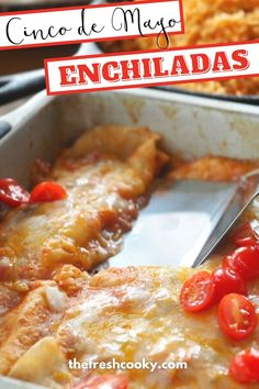 A recipe for easy, cheesy cheese and onion enchiladas in a mild red enchilada green chile sauce is perfect for Cinco de Mayo or anytime you want a simple, but authentic Mexican meal. A family recipe and process, perfect for Taco Tuesdays, or whenever you crave restaurant style enchiladas! Naturally gluten free too! Pork Recipes For Dinner, Meal Recipes, Cheese Recipes, Grilling Recipes, Mexican Food Recipes, Yummy Recipes, Free Recipes, Easy Family Meals, Family Recipes