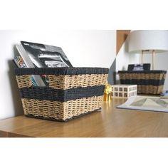 Handcrafted 4 Home Modern Wicker Shelf Baskets (Set of Size: Black Pretty Storage Boxes, Fabric Storage Boxes, Fabric Bins, Seagrass Storage Baskets, Wicker Shelf, Wood Basket, Rattan Basket, Collapsible Storage Bins, Ornament Storage