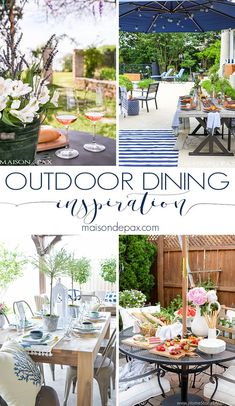 Looking for outdoor dining inspiration? These outdoor entertaining spaces are full of creative ideas for enjoying an al fresco meal!