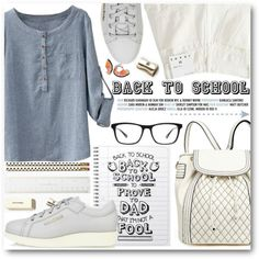 Back To School by stylemoi-offical on Polyvore featuring Acne Studios, Joseph Marc, Bobbi Brown Cosmetics, Kate Spade, women's clothing, women's fashion, women, female, woman and misses
