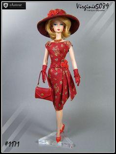 tenue outfit + accessoires pour  barbie silkstone vintage integrity toys #1171
