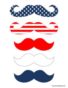 Mustaches from Stars & Stripes Set