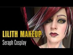 Borderlands 2 Lilith Cel Shading and Makeup - Seraph Cosplay - YouTube