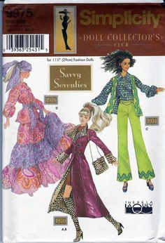 Simplicity 4719 Barbie Doll Clothes Pattern  by sewvintageladies, $12.00