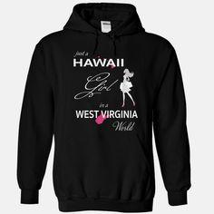 HAWAII GIRL IN WEST VIRGINIA WORLD, Order HERE ==> https://www.sunfrog.com/LifeStyle/HAWAII_WEST-VIRGINIA-Black-75988001-Hoodie.html?id=47756 #christmasgifts #xmasgifts #westvirginia