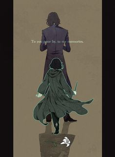 Tags: Anime, Shadow, Wand, Little Boy, Lily, Harry Potter, Severus Snape