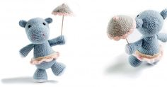 Tuto crochet : faire un amigurumi hippopotame Crochet tutorial: make a hippo amigurumi Crochet Diy, Crochet Amigurumi, Crochet Hippo, Crochet Patron, Crochet Fashion, Softies, Knitting Projects, Baby Toys, Diy And Crafts