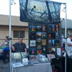 """Trying out another mini setup at Phoenix 1st Friday."""