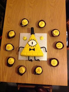 Gravity Falls Bill Cipher Cake: I want this for my birthday. Gravity Falls Bill Cipher, Billdip, Fall Birthday, 10th Birthday, Birthday Cake, Dipper Y Mabel, Gavity Falls, Over The Garden Wall, Fall Pictures