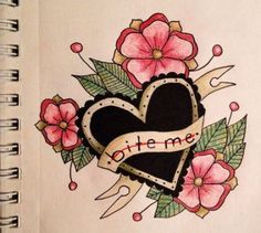 ideas for tattoo heart traditional banners Arrow Tattoos, Leg Tattoos, Sleeve Tattoos, Tattos, Rose Heart Tattoo, Flower Tattoo Arm, Tattoo Flowers, Trendy Tattoos, Unique Tattoos