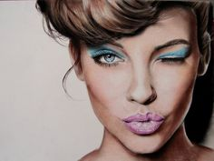 Barbara -  Valentina is an Italian artist who drew the realistic portraits of celebrities with colored pencils.