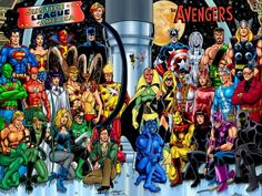 Avengers/Justice League:a classic DC/Marvel crossover by George Perez.